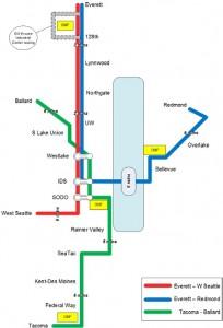 ST3's preferred option for subdividing light rail lines