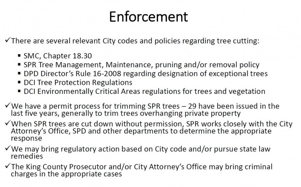 tree enforcement