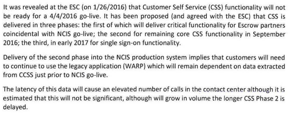 CSS status feb 16