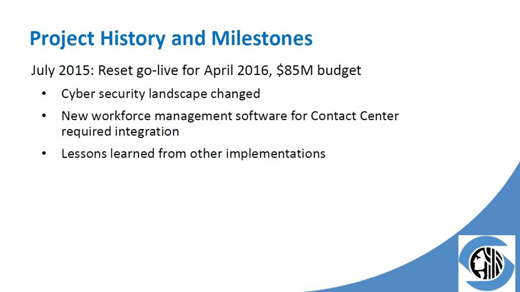 project history and milestones 2