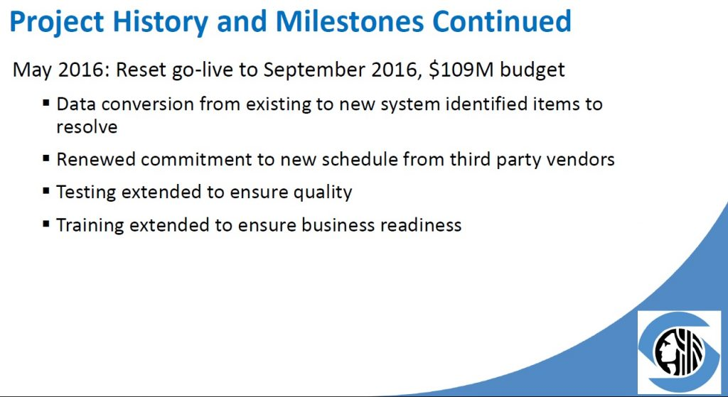 project history and milestones 3