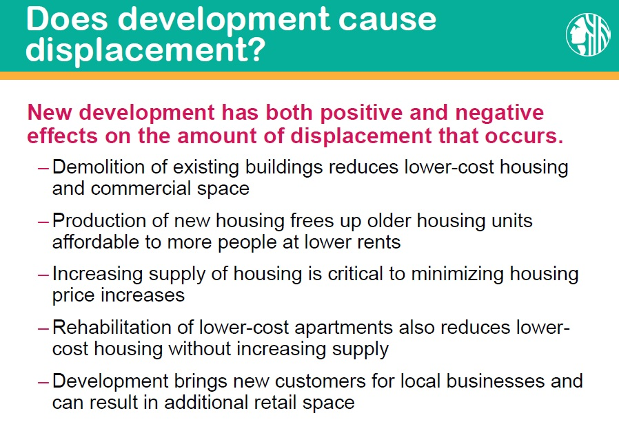 oes development cause displacement