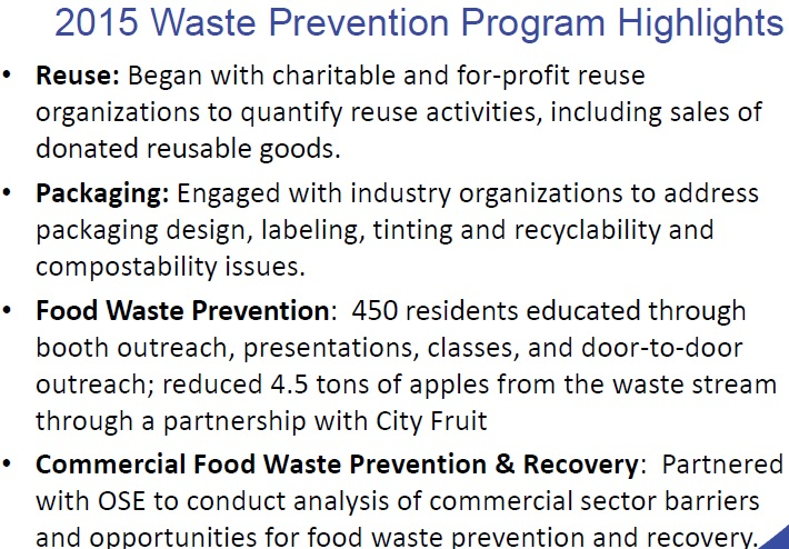 waste prevention programs