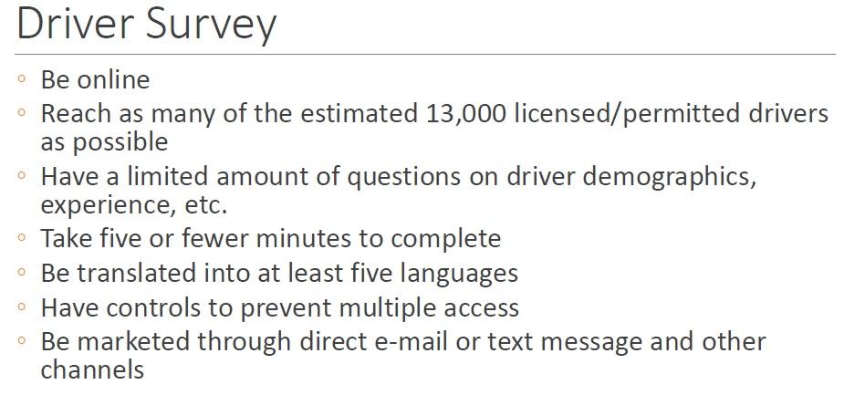 driver survey