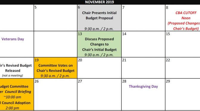 What's up for discussion at tomorrow's budget meeting